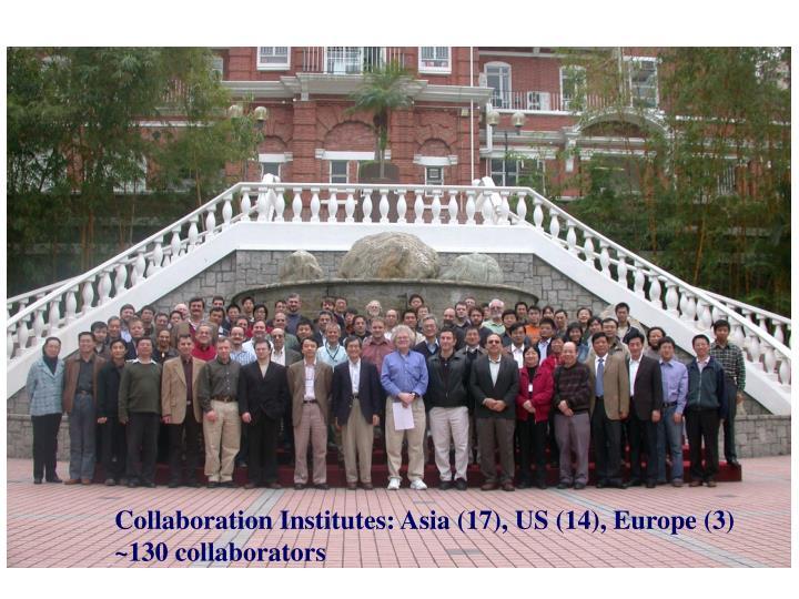 Collaboration Institutes: Asia (17), US (14), Europe (3)