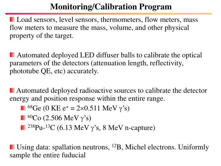 Monitoring/Calibration Program