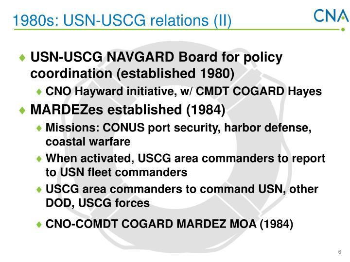 1980s: USN-USCG relations (II)