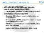 1980s usn uscg relations ii