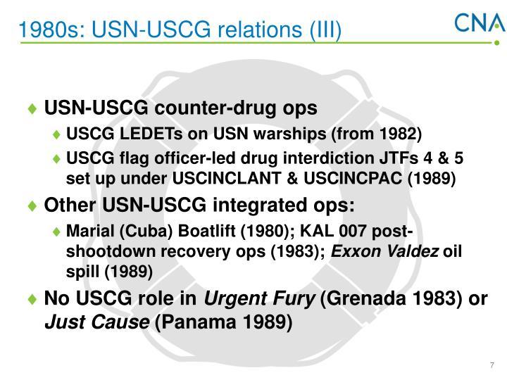1980s: USN-USCG relations (III)