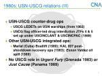 1980s usn uscg relations iii