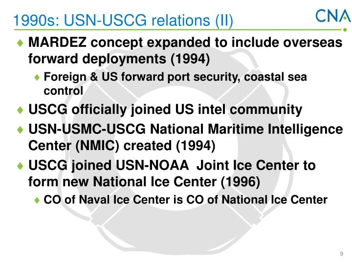 1990s: USN-USCG relations (II)