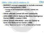 1990s usn uscg relations ii
