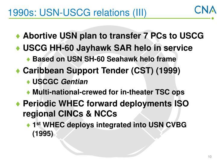 1990s: USN-USCG relations (III)