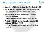 1990s usn uscg relations iii