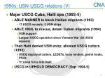 1990s usn uscg relations v