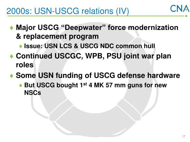 2000s: USN-USCG relations (IV)