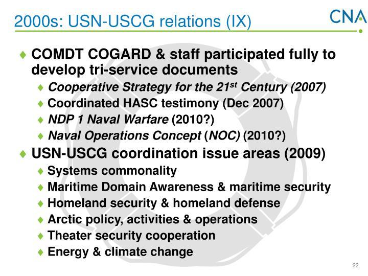 2000s: USN-USCG relations (IX)