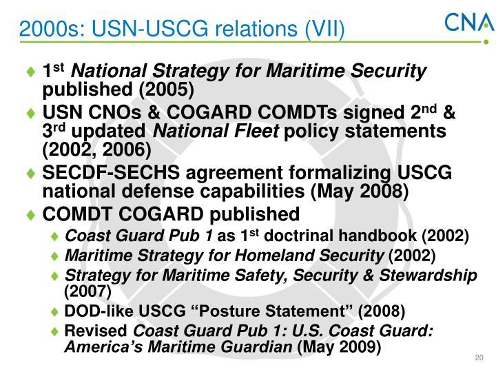 2000s: USN-USCG relations (VII)