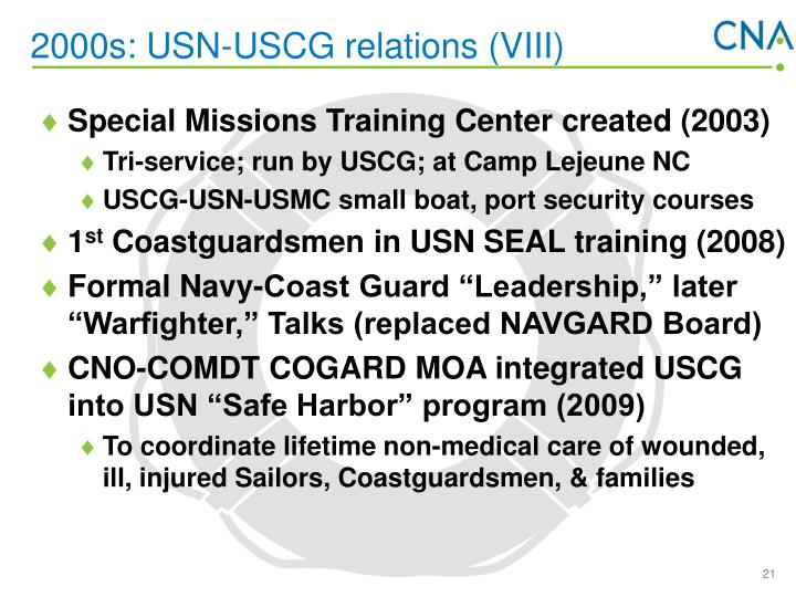 2000s: USN-USCG relations (VIII)