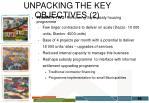 unpacking the key objectives 2