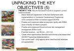 unpacking the key objectives 5