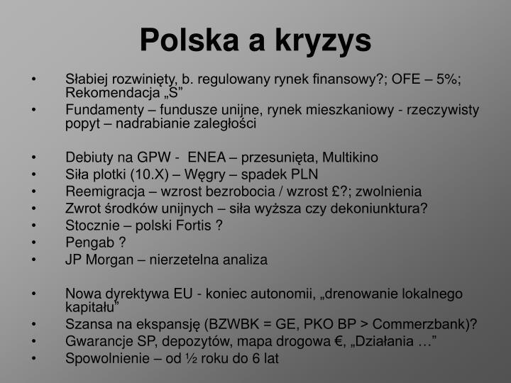 Polska a kryzys
