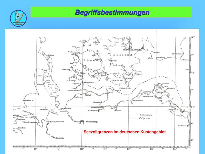 Seezollgrenzen im deutschen Küstengebiet