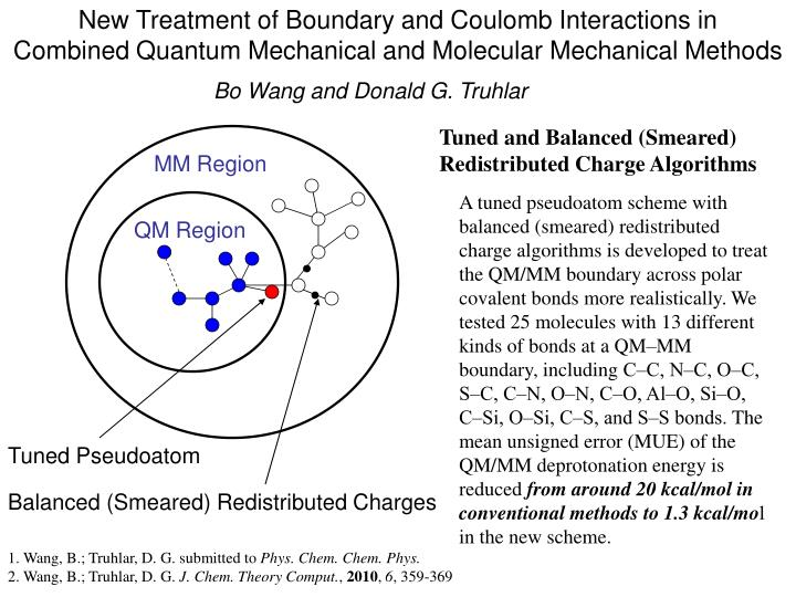 New Treatment of Boundary and Coulomb Interactions in          Combined Quantum Mechanical and Molecular Mechanical Methods