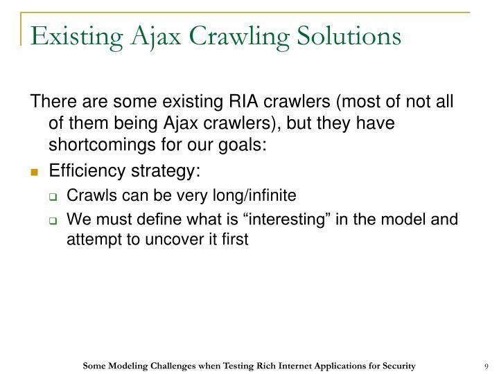 Existing Ajax Crawling Solutions
