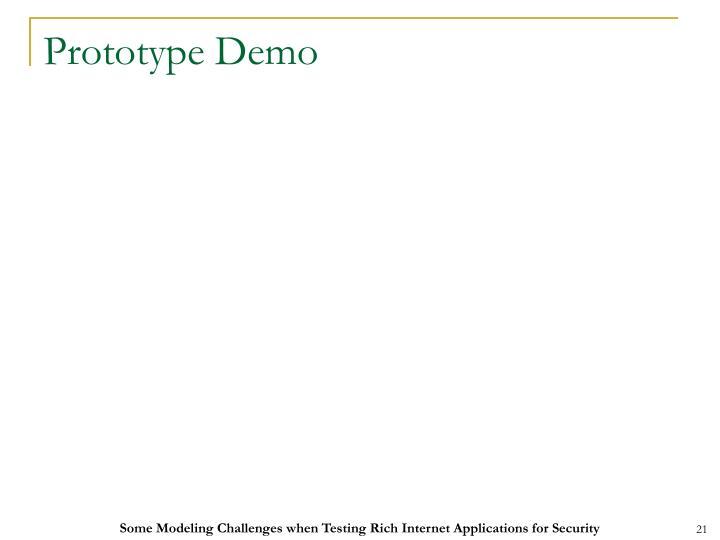 Prototype Demo