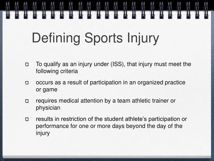 Defining Sports Injury