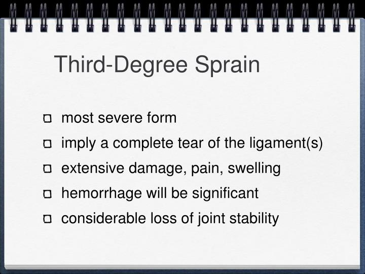 Third-Degree Sprain