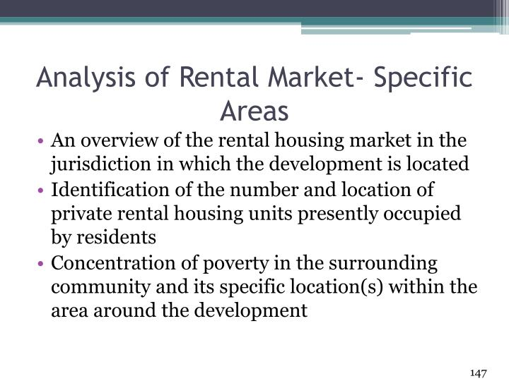 Analysis of Rental Market- Specific Areas