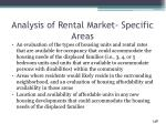analysis of rental market specific areas1