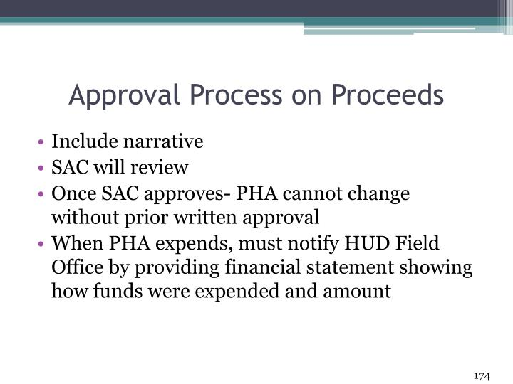 Approval Process on Proceeds