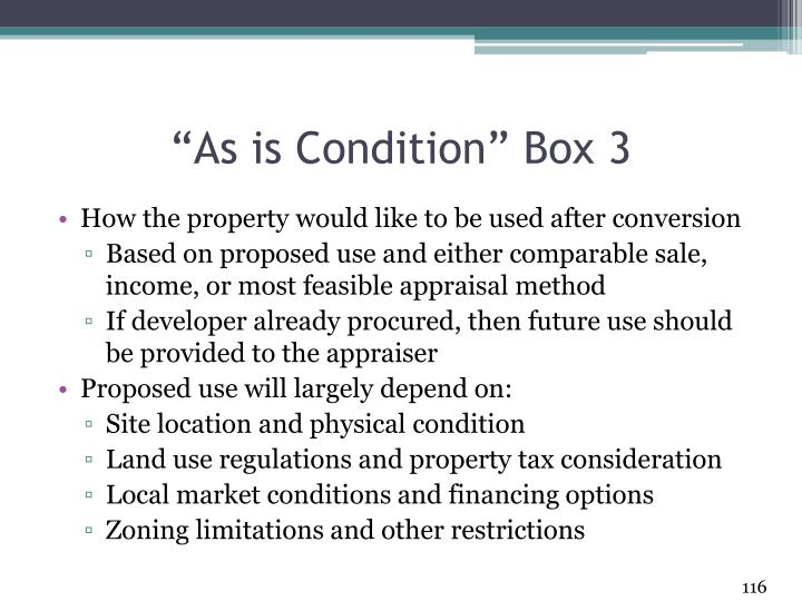"""""""As is Condition"""" Box 3"""