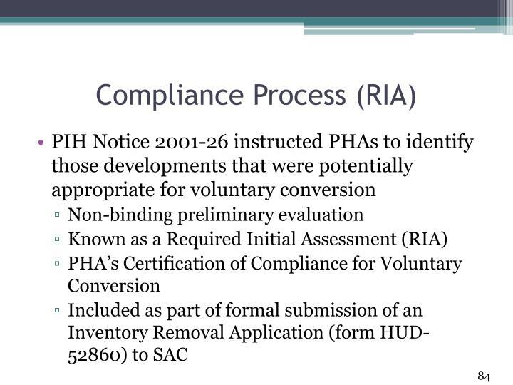 Compliance Process (RIA)