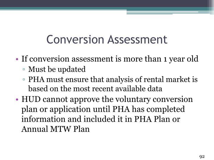Conversion Assessment
