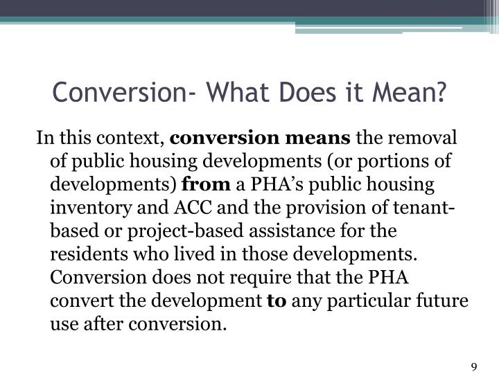 Conversion- What Does it Mean?
