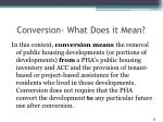 conversion what does it mean