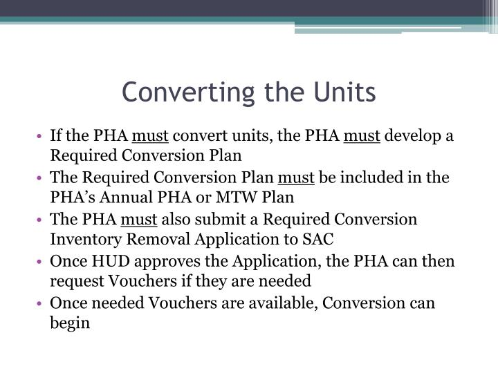 Converting the Units