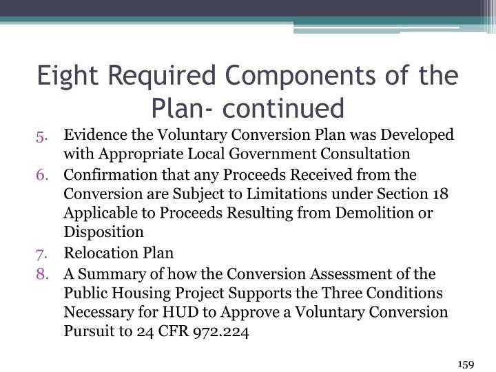 Eight Required Components of the Plan- continued