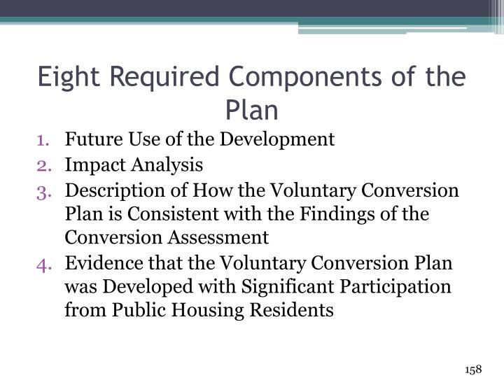 Eight Required Components of the Plan