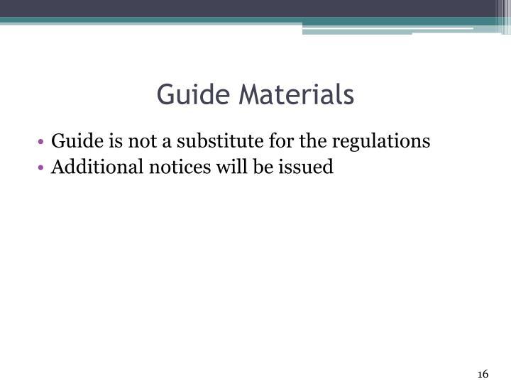 Guide Materials