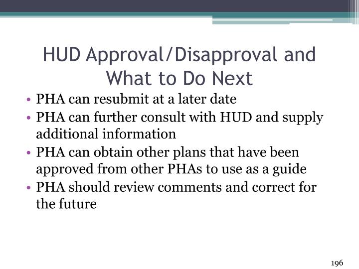 HUD Approval/Disapproval and