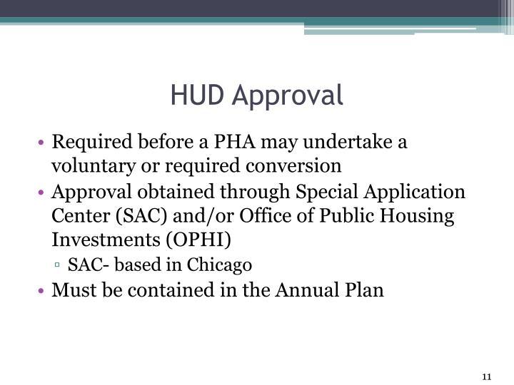 HUD Approval