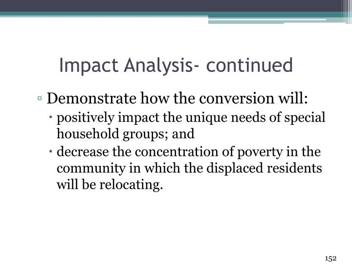 Impact Analysis- continued
