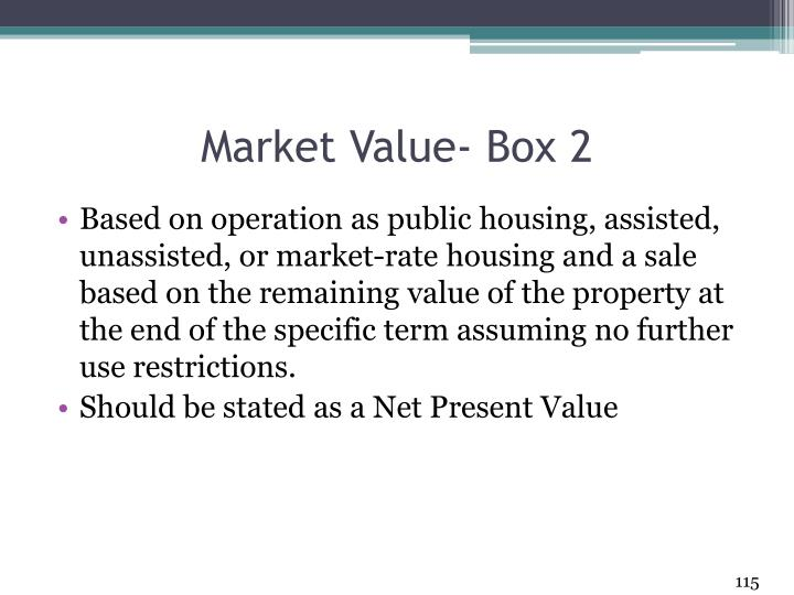Market Value- Box 2