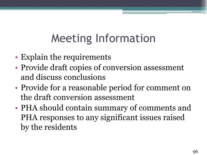 Meeting Information