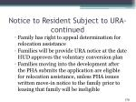 notice to resident subject to ura continued1