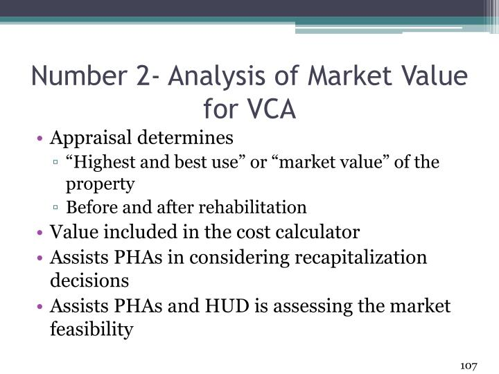 Number 2- Analysis of Market Value for VCA