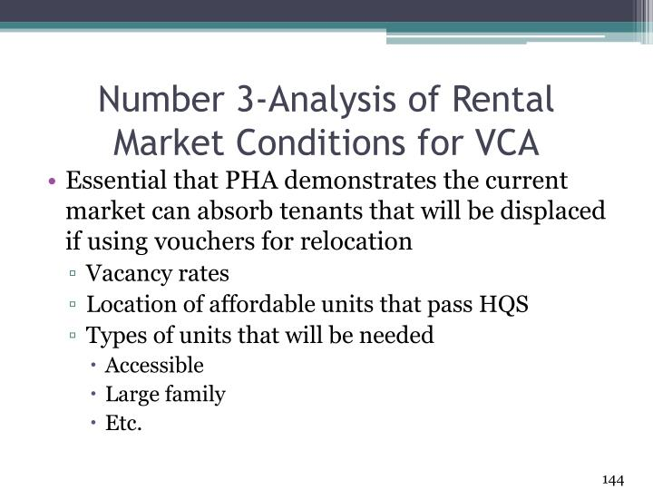 Number 3-Analysis of Rental Market Conditions for VCA