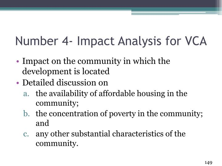 Number 4- Impact Analysis for VCA