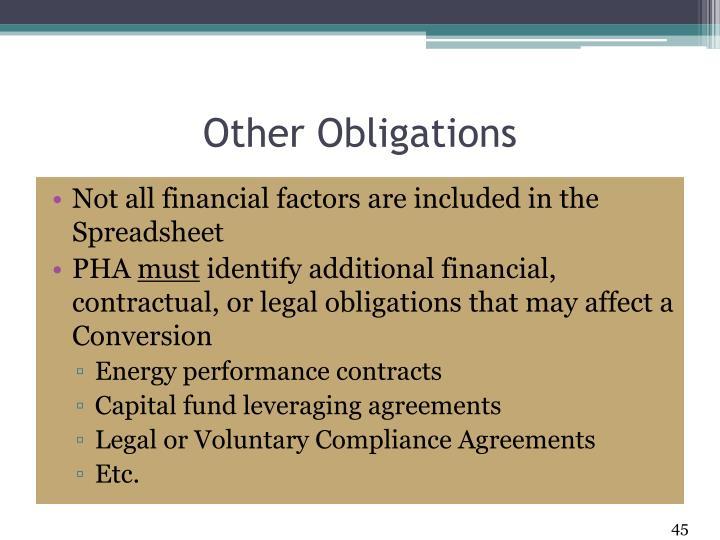 Other Obligations