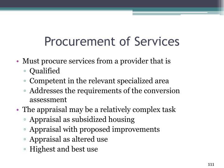 Procurement of Services