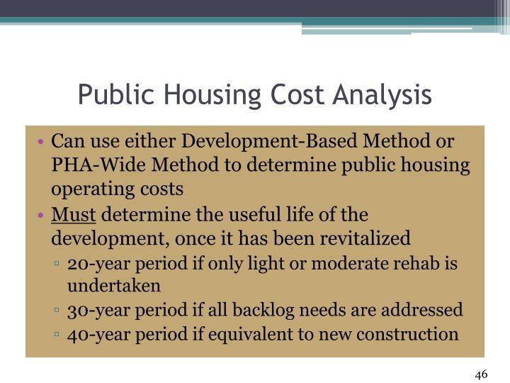 Public Housing Cost Analysis