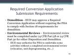 required conversion application submission requirements2
