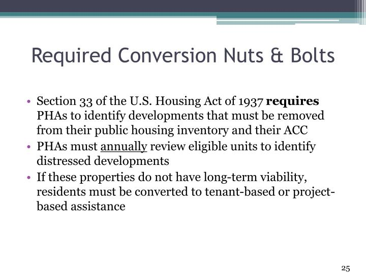 Required Conversion Nuts & Bolts